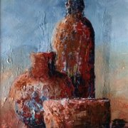 Candle Wax and Terracotta by Liz Grammenos