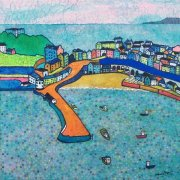 Flying over Tenby by Nathalie Pymm