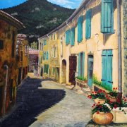 A Street in Southern France by Isobel Cherry