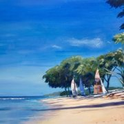 Barbados Beach by Jackie Hornby